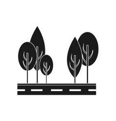 Isolated street and trees design vector
