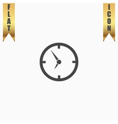 Circle clock icon vector