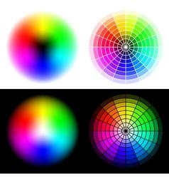 hsv color wheels vector image