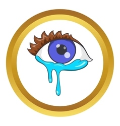 Crying eyes icon vector