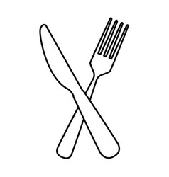 Fork and knife cutlery tool icon vector