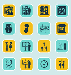 Set of 16 administration icons includes vector
