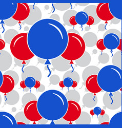 Red and blue party balloon pattern on white vector