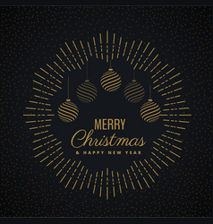 Merry christmas greeting card design with hanging vector