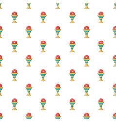 Church goblet glyph pattern seamless vector