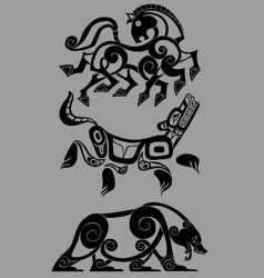 Stylized decorative celtic animal vector
