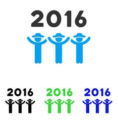 2016 guys dance flat icon vector
