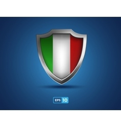 Italy shield on the blue background vector