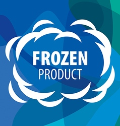 logo for frozen products in the form of a cloud vector image