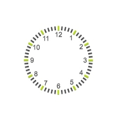 Abstract minimal clock on white wall vector image
