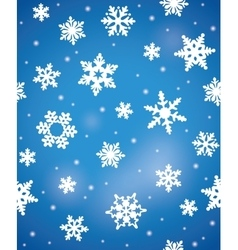 Winter seamless pattern with snowflakes vector