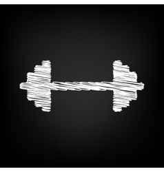 Dumbbell weights sign vector