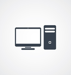 Computer desktop icon vector
