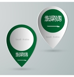 paper of map marker for maps saudi arabia vector image
