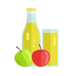 Apple juice concept vector