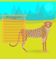 African cheetah vector