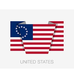 American Betsy Ross Flag Flat Icon vector image vector image