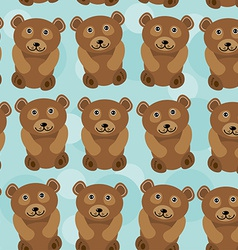 Bear Seamless pattern with funny cute animal on a vector image vector image