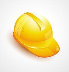 Builder helmet icon vector