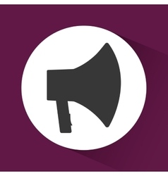 bullhorn announce graphic vector image