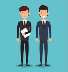Business people characters icon vector