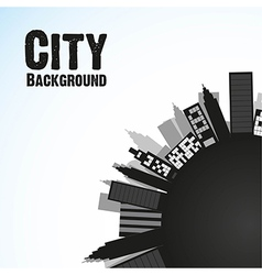 City black background isolated on blue background vector