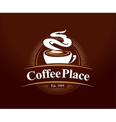 Coffee place logo vector