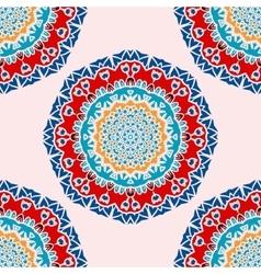 Colorful Mandala Print Seamless vector image