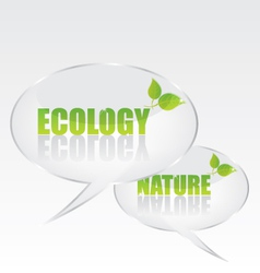 Ecology bubble speech vector image vector image