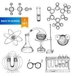 Education chemistry and physics set vector image vector image