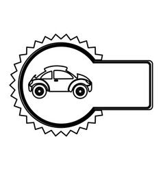 Emblem sport car side icon vector