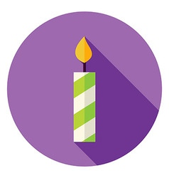 Flat Design Candle Circle Icon vector image