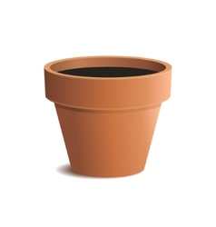 Flower Pot Isolated on White Background vector image