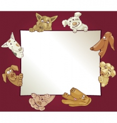 frame with dogs vector image