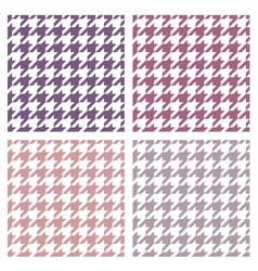 Houndstooth seamless colorful violet pattern set vector