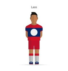Laos football player soccer uniform vector