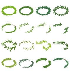 laurel wreath icons set isometric style vector image