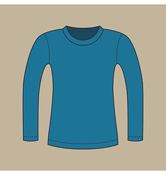 Long Sleeves Shirt vector image