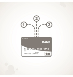 Options for using a credit card vector