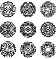 Oriental radial patterns set vector image vector image