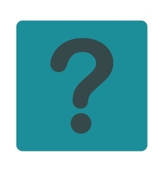 Question flat soft blue colors rounded button vector