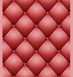 Quilted pattern vintage buttoned leather vector