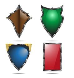 Shield set vector image vector image