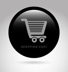 shopping cart design vector image vector image
