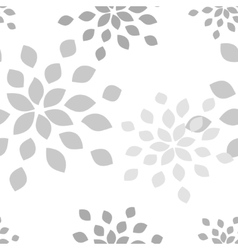 Stylized flower seamless pattern vector