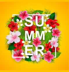 summer typographical background vector image vector image