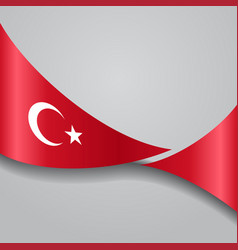 Turkish wavy flag vector