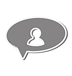 User pictogram within conversation bubble icon vector