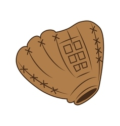 glove baseball icon isolated vector image