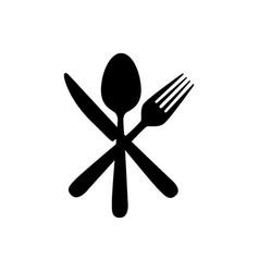 sticker contour cutlery icon vector image